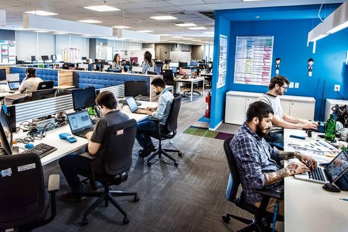 Funcionários da Cielo, em São Paulo: mudança cultural deixou a empresa mais flexível e menos hierárquica