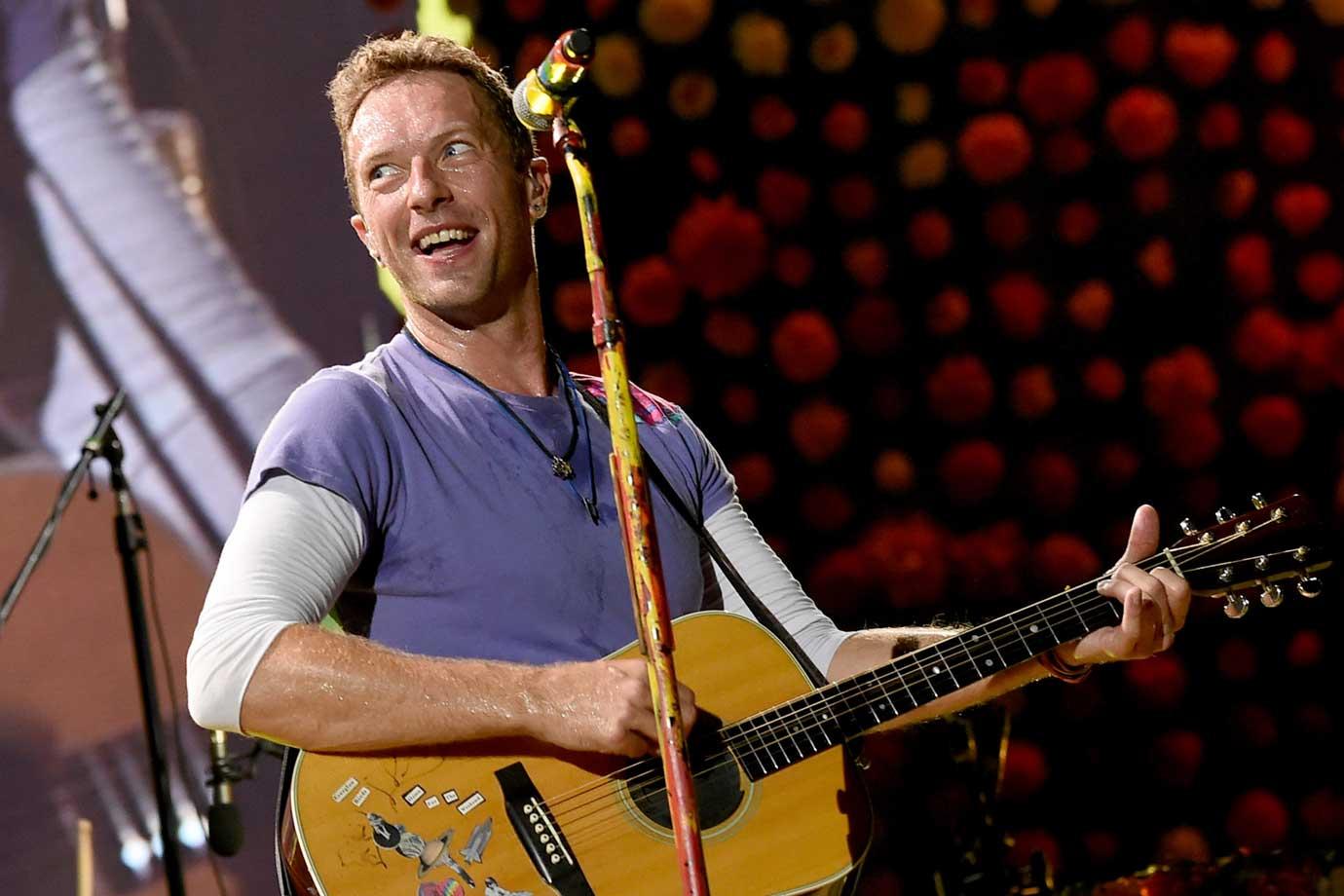 Chris Martin, vocalista do Coldplay, dia 6/10/2017
