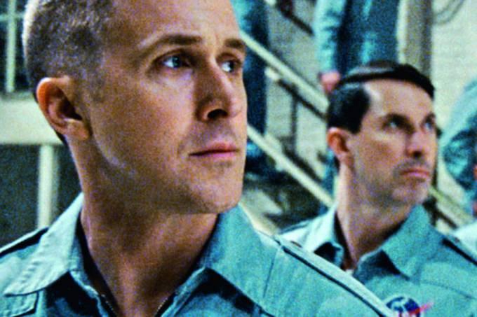 """Ryan Gosling no papel de Neil Armstrong em """"O primeiro homem"""""""