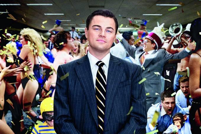 """Leonardo DiCaprio no filme """"O Lobo de Wall Street"""", de Martin Scorsese."""
