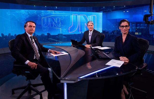 Jair Bolsonaro é entrevistado no Jornal Nacional