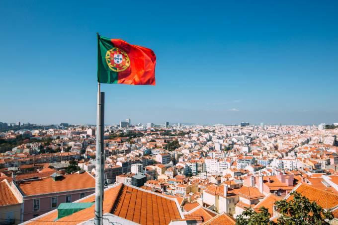 Bandeira de Portugal em Lisboa