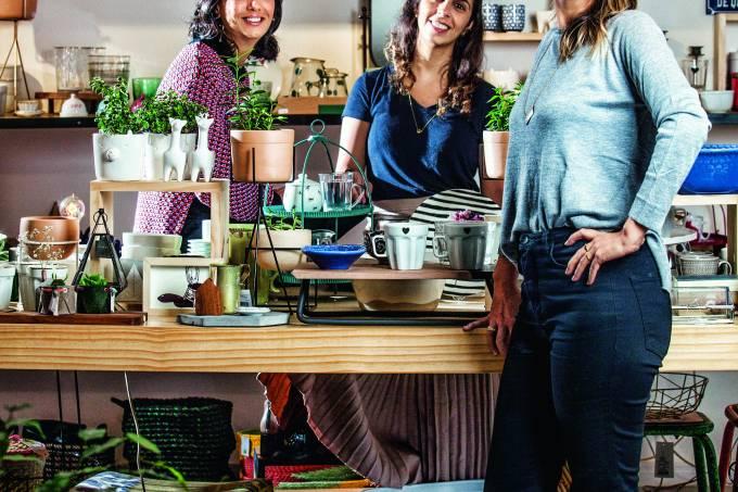 Isabela Piva, Olívia Jock e Luisa Jock.
