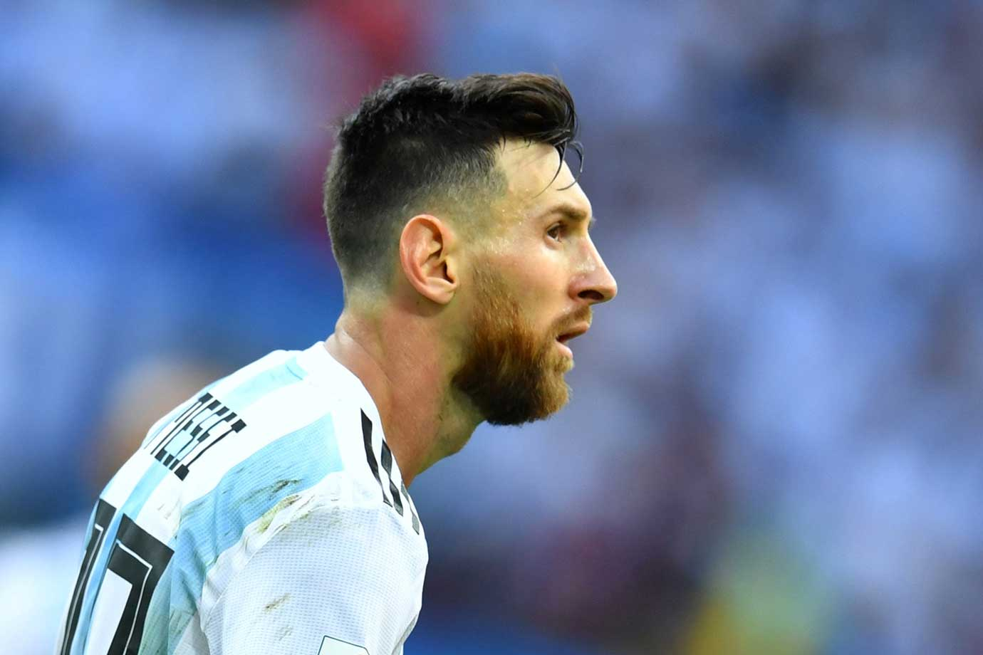 Jogador argentino Lionel Messi, na Copa do Mundo na Rússia 2018