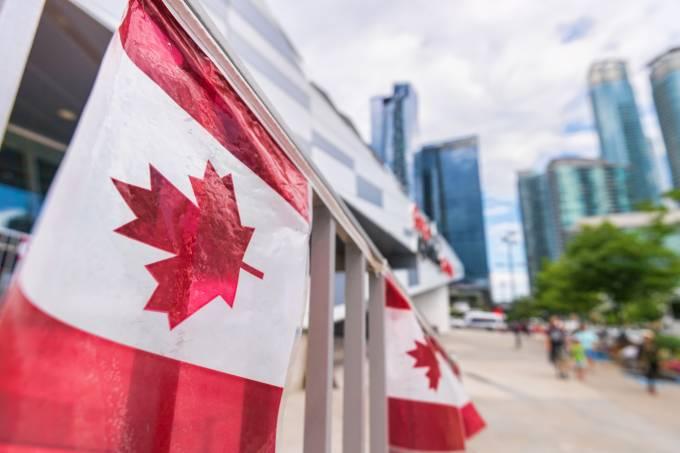 Bandeira do Canadá em Toronto