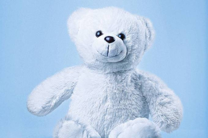 Sitting White Teddy Bear