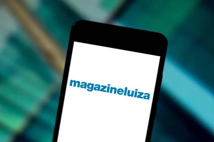 In this photo illustration the Magazine Luiza (Magalu) logo