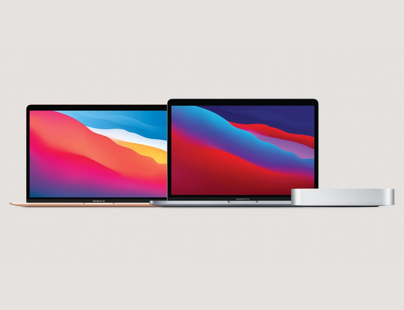 MacBook Air, o MacBook Pro e o Mac mini – os produtos que receberam o chip M1